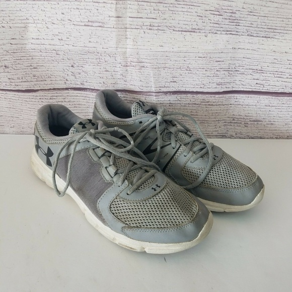 free shipping ed008 92250 Under Armour Thrill 2 Mens Gray Running Shoes